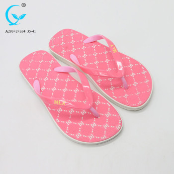 Custom Plastic home fancy girls flip flops china wholesale slipper