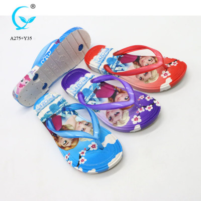Wedge sandals eva slipper for kids with PVC daily use sandals