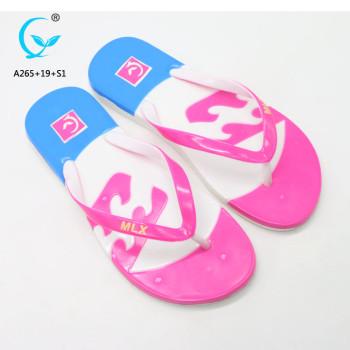 Jelly shoes heel chappal fancy flat slipper factory summer ladies flat sandals