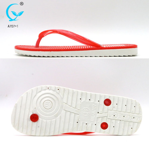 Shoes slippers for women babouche injected pvc durable high quality flip flops