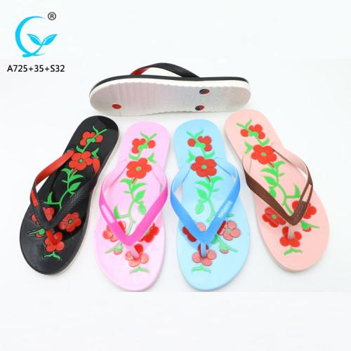 Summer fashion women sandals plastic china market shoes ladies sandal chappal