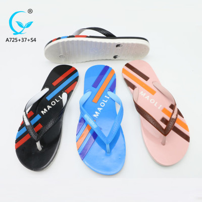 Branded ladies sandals custom embroidered slippers outdoor summer fashion plastic chappal