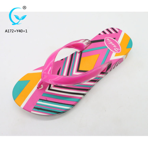 Shoe design 2018 flip flop slippers shiny pvc slipper sandals shoes women 2018