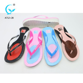 PVC thong rubber strap flip flops sandal wholesale pvc ladies bangkok slippers