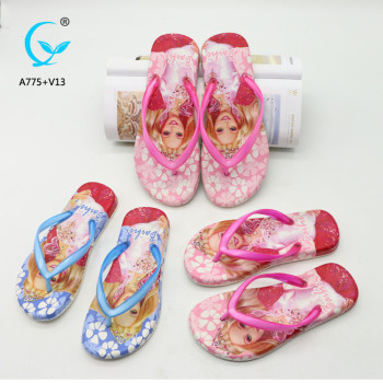 PU slide slipper colorful slide sandal pu men chappal plastic sandals for women