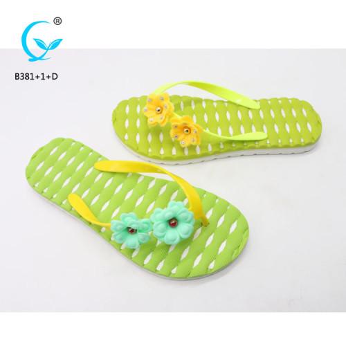 Ladies comfy sliders flat shoes slippers design kids pvc sandals new chappal models myanmar slipper