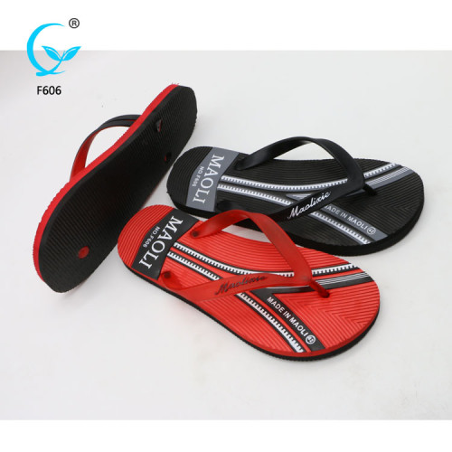 Rubber chappals men custom embroidered slippers china market shoes sandals