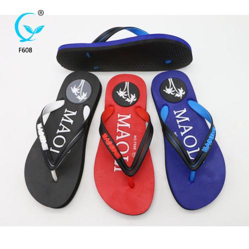 Satin slippers thick sole thong flip flops pvc outdoor  footwear men sandals 2018