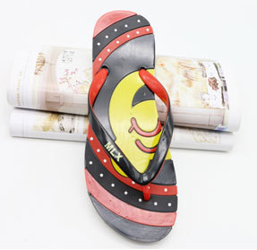 Ladies accesorie mickey leather slippers for women