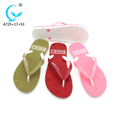 Eva china flat pvc-slipper and sandal ladies shoes