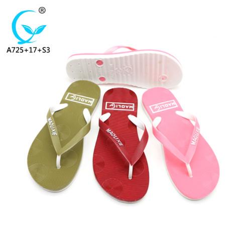 Eva china flat pvc-slipper and sandal ladies shoes