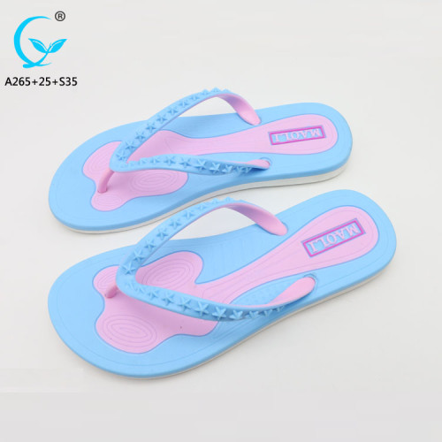 Fancy ladies chappal china shoes factory summer sandals for women rubber