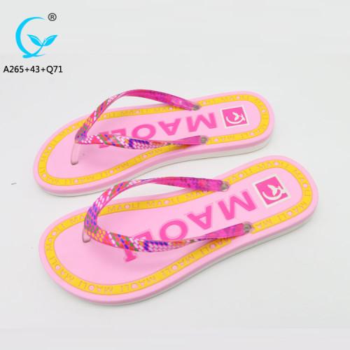 Latest design slippers indoor pvc chappals shoes sandal eva flip flops