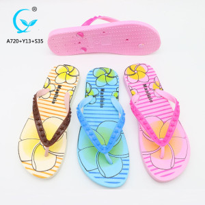 Beach shoe new 2018 design of sandals flip flop eva/pvc slippers 2018