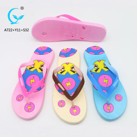 Girls nude beach shoe slippers indoor latest design sandal flip flop