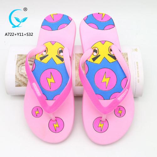 Girls nude beach shoe slippers indoor latest design sandal flip flop
