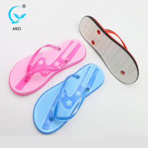 Latest flip flops new arrival pvc slipper girls nude beach sandal shoe