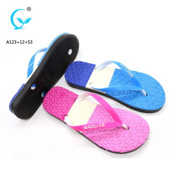 Braided girls casual ladies sexy beach PVC wedge fish flip flops
