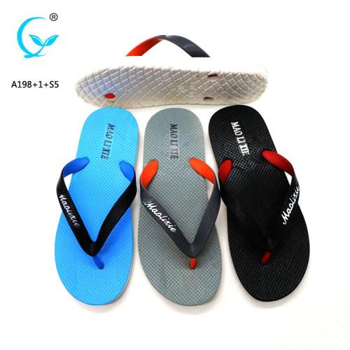 Summer platform nude high quality men eva pvc summer outdoor flip flops