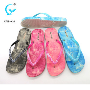 Fancy wholesale personalized monogrammed color wedge flip flops
