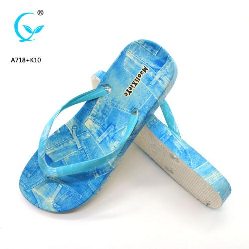 Fancy wholesale personalized monogrammed color wedge flip flops