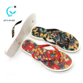 Wholesale print nice women pe rubber flip flops slippers portugal