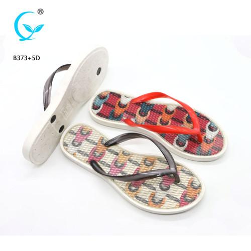 New style air blowing 2018 ladies sliders slippers pvc