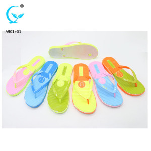 Foot massage custom logo women rubber flip flops ladies footwear