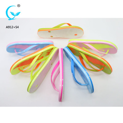 Flip flop with logo printing fancy heel chappal chinese footwear brands