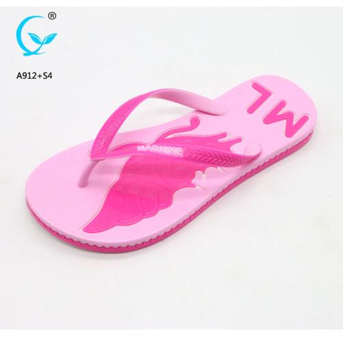 Flip flop with logo printing fancy heel chappal chinese footwear brands