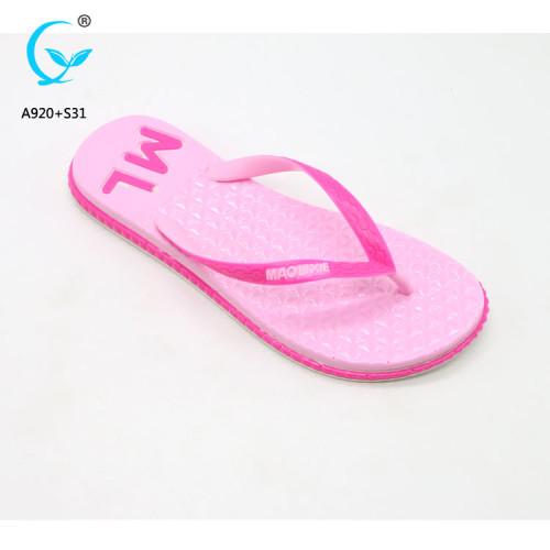 China fashion chappal pvc girls beach shoes latest ladies sandals footwear
