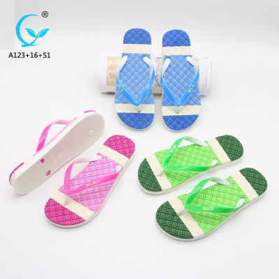 Latest design footwear hotel slippers ladies flat sandals women shoes