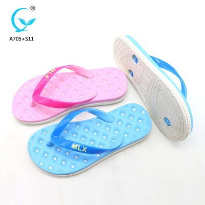 Beach shoes latest ladies sandals massage slippers new designs flat sandals