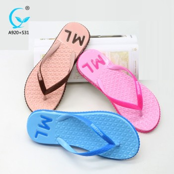 China fashion chappal pvc girls beach shoes latest ladies sandals footwear