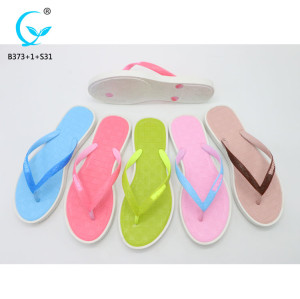 Fancy nude beach sandals flip flops girls fashionable chappal footwear women