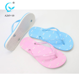 New materials embroider ladies soft light color slippers
