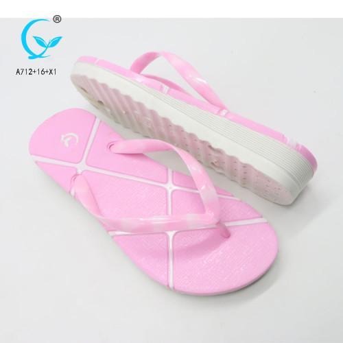Sublimation flip-flops pvc folding maoli slipper  ladies chappal beach