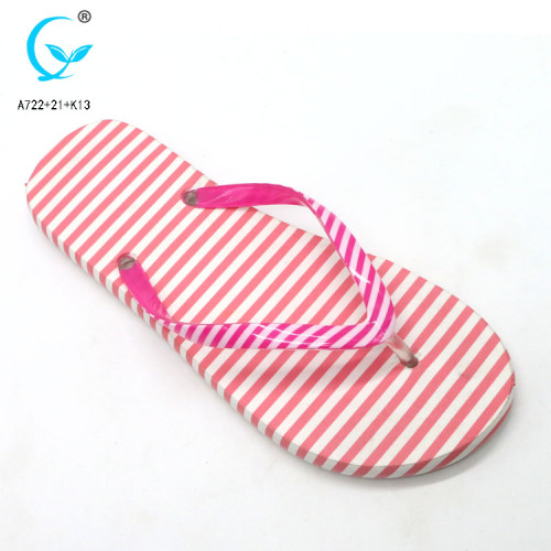 Max collection flip flops with flower fashion brand label flip flop with logo women footwear pvc