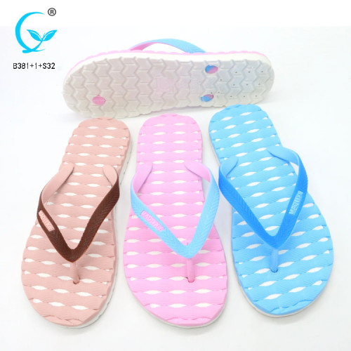 Pvc strap rubber various colors of new ladies comfy sliders flat shoes slippers