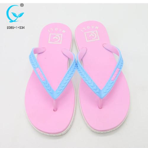 Korean style platform custom printed shoe women pvc slippers 2017