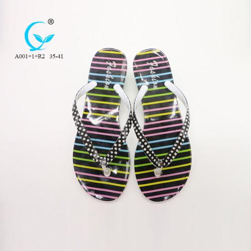 Personalised aerosoft walking thailand rubber foldable flip flops