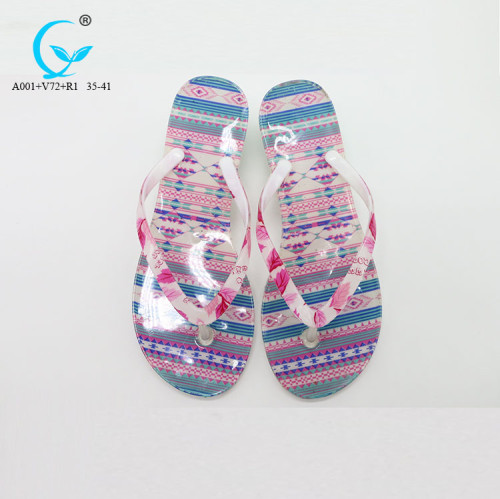 White women guangzhou flip flops 2017 new flat sandals lady shoes