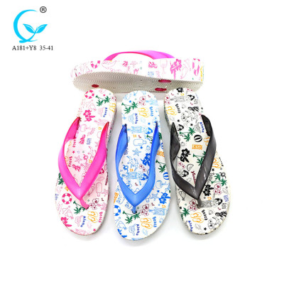 Footwear pvc women soft white bulk uk flip flop shoes thailand