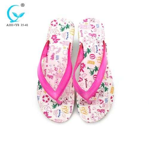 Footwear pvc women soft white bulk uk flip flop shoes thailand