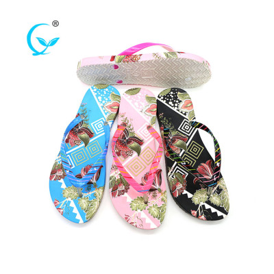 Lowest price womens flip flop thailand beach slippers with wedge