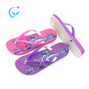 Female fancy wholesale pvc air blown safety flip flops s slippers