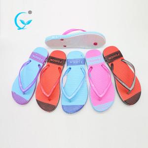 Sex pink sandal chappal sponge ladies pvc slipper strips flip flops premium