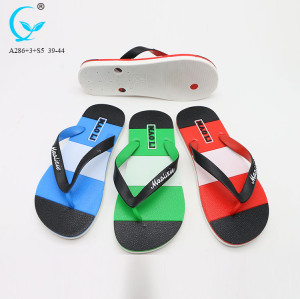 Outdoor antiskid footwear sandals men beach plastic slippers