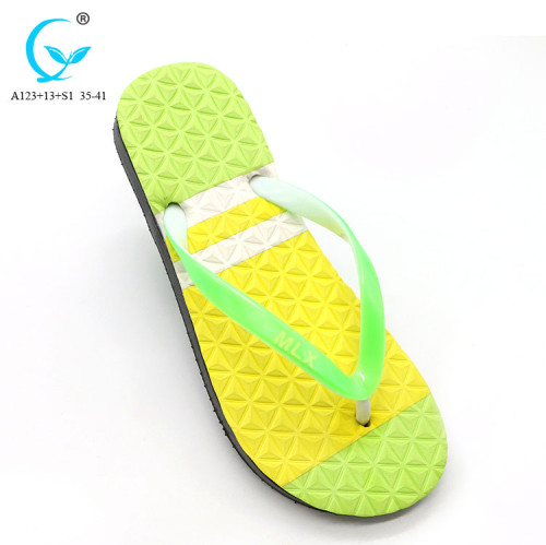 Chinese prices thailand rubber whitelabel rubber slide in flip flops