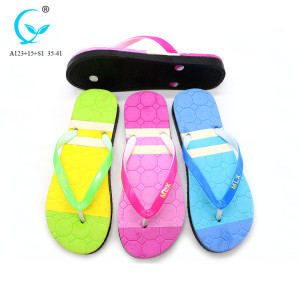 Trend pvc women 2017 printed outsole flip flops beach sandals female